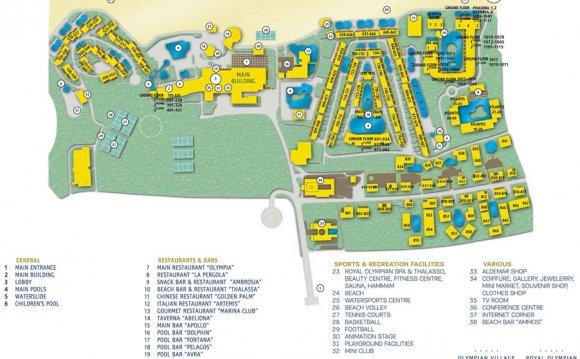 Карта Aldemar Olympian Village